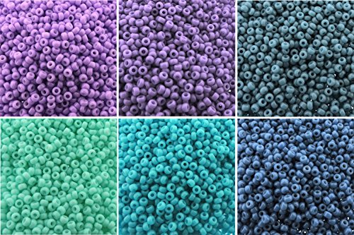 (Duracoat Opaque 6 Color Mix Miyuki Round Rocaille Seed Beads Size 11/0, Each in 2