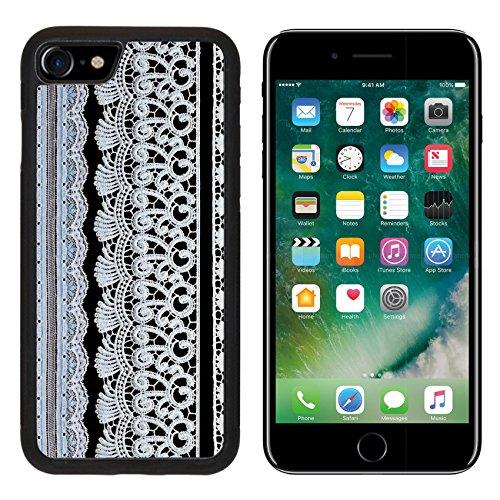 MSD Premium Apple iPhone 7 Aluminum Backplate Bumper Snap Case iPhone7 Vintage lace line ornamental flowers real lace IMAGE 19761030