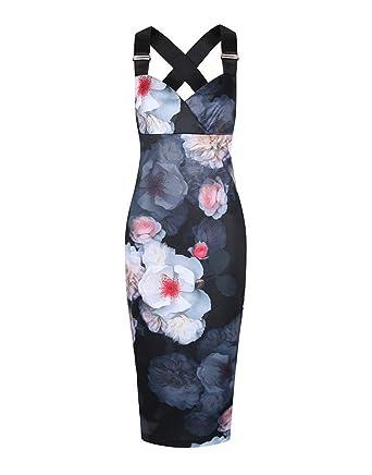 4c3c31e6ae83 Black Womens Ted Baker Women s Teeki Chelsea Print Bodycon Dress - Black -  16