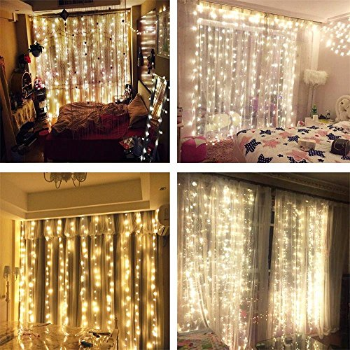 Amazoncom AMARS Safe Voltage Bedroom String LED Curtain Lights - Curtain lights for bedroom