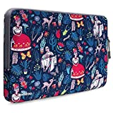 tomtoc 360° Protective Laptop Sleeve Compatible with13 inch New MacBook Pro A1989 A1706 A1708 USB-C | Dell XPS 13, Notebook Bag Case 13'' with Accessory Pocket & CornerArmor Patent, Dazzling Blue