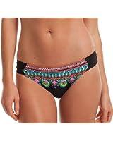 Trina Turk Women's Dashiki Shirred Side Hipster Bikini Bottom