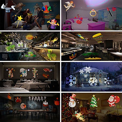 Elec3 Christmas Halloween Projector Light, 16 Slides Landscape Motion Projector Lights with Remote Control, 32ft Power Cable for Decoration Lighting on Halloween Holiday Party by Elec3 (Image #6)