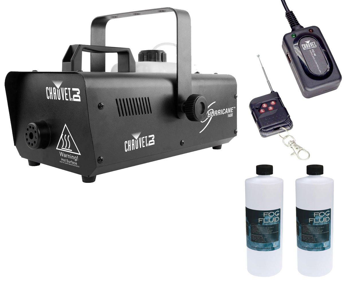 Chauvet H1400 Hurricane 1400 Fog Machine +Wireless Remote +2x Fluid/Juice Quart