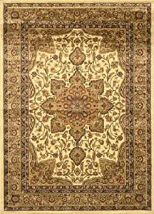 Home dynamix royalty 8083 100 ivory 7 feet 8 for Traditional kitchen rugs