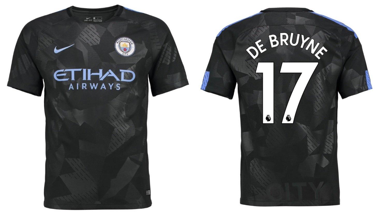 Trikot Kinder Manchester City 2017-2018 Third - De Bruyne 17