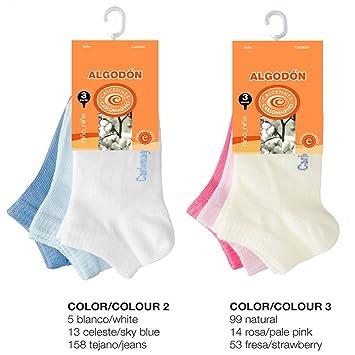 Carlomagno - Pack 3 pares calcetines bebe mini 5231 - Talla 00 - Color Rosa: Amazon.es: Hogar