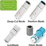 Silhouette Cameo 3 Four Blade Pack - Deep Cut Blade, Premium Blade, Fabric Blade, AutoBlade + Bonus Designs