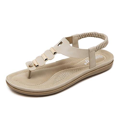 a36ad8726636 Orangetime Sandals Women Buckle Mental T-Strap Flat Shoes XWZ4872 Comfort  Causal Beach Flats Ladies