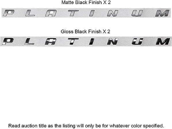 2pc F-150 F-250 F-350 Super Duty LIMITED Letters Matte Black Bed Emblem