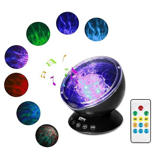 Proyector De Luz Nocturna Con Control Remoto - Usb 7 Modos De Luz ...