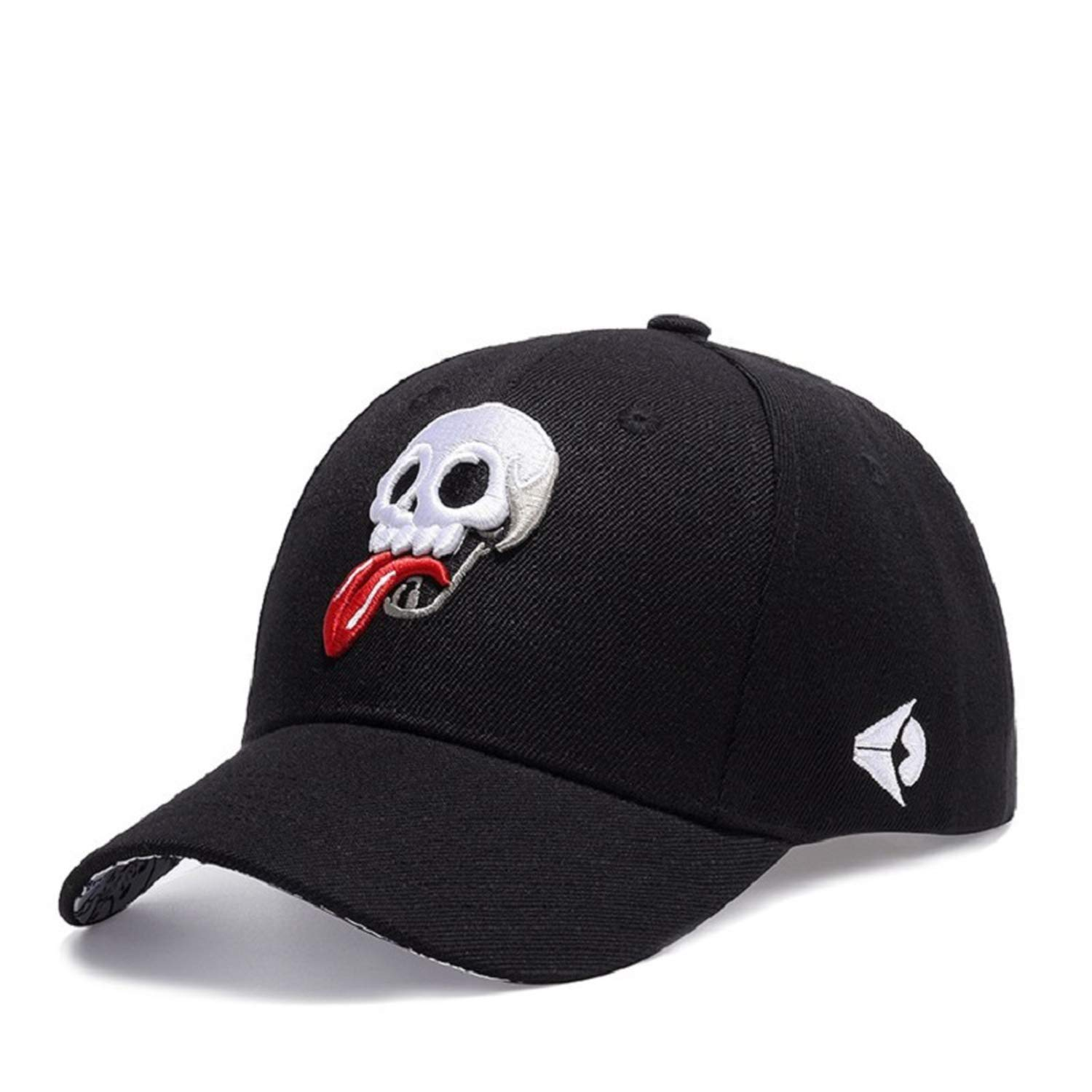 FUZE Brand Unisex Baseball Cap Skull Embroidered Snapback Hat Outdoor Sport Caps