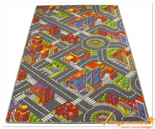 Premium Spielteppich Straßen Kinderteppich Straßenteppich in der Größe 183 x 122 cm