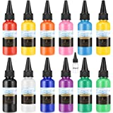 Bearals Acrylic Pouring Paint 12 Assorted Colors Pouring Acrylic Paint Pre-Mixed High Flow Fluid Pouring Paints for…