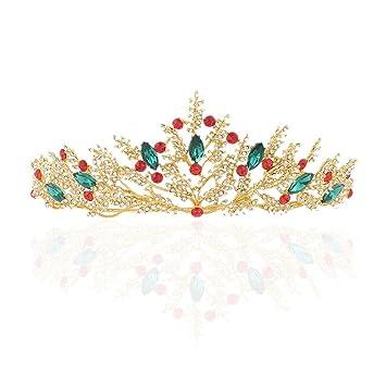 Magai Brautkrone Haarschmuck Barocke Goldene Hochzeit Krone