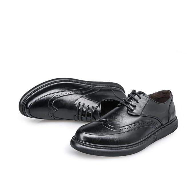 dab31886aa080 ZPFME Scarpe Oxford Da Uomo Vintage Business Scarpe Stringate Formali  Eleganti Per Uomo Scarpe Da Sposa Classiche  Amazon.it  Abbigliamento