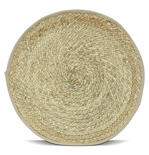 Woven Round Table Placemats Handmade 15
