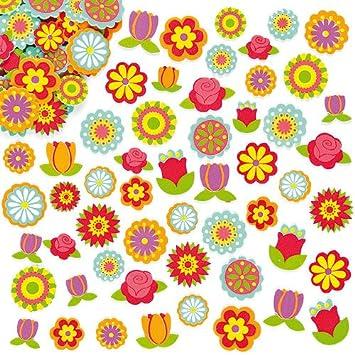 e94e44aa55 Baker Ross ET836 Flower Foam Stickers (Pack of 144), Assorted ...