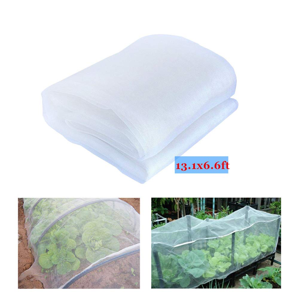 YBB 13.1'x6.6' Garden Netting Plant Cover, Insect Barrier Netting Bird Screen Hunting Blind Garden Net for Protect Plant Fruits Flower