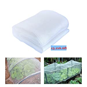YBB 13.1'x6.6' Garden Netting Plant Cover, Insect Barrier Netting Bird Screen Hunting Blind Garden Net for Protect Plant Fruits Flower