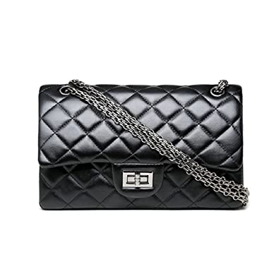 073e43609f5 Small Black Purse Rock Women Quilted Crossbody Bag Girls Side Purse and Shoulder  Handbags Designer Clutch
