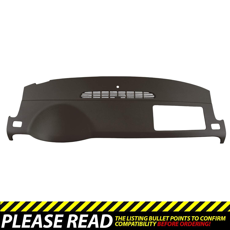 DashSkin Molded Dash Cover Compatible with 07-14 GM SUVs w/o Dash Speaker in Cocoa