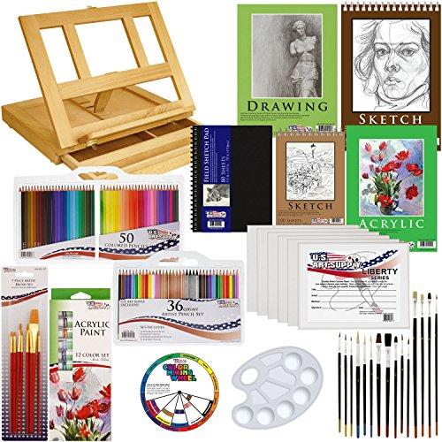 US Art Supply 134 Piece Sketchbook
