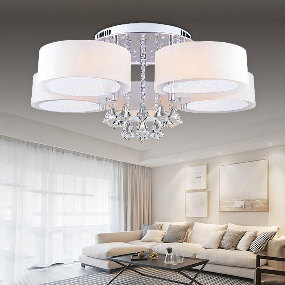 Hengda® LED Deckenlampe Deckenlampe Deckenlampe Kristall Deckenleuchte Lampe Leuchte Kronleuchter Leuchter Pro Einstellbar Modern für das Bad geeignet Küche mit Energiesparende Möbeleinbauleuchte (35W,5 Flammig) 59535f