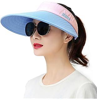 d792001babfd5 HindaWi Sombreros de sol para mujer de ala ancha con protección UV ...