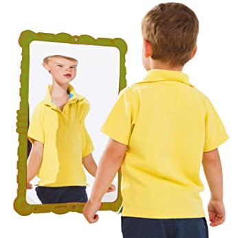 Elegant Gartenpirat Miroir Déformant De Jeu Pour Enfants 58 X 38 Cm Coloris Vert De