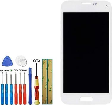 Swark Super AMOLED - Pantalla táctil compatible con Samsung Galaxy S5 Mini SM-G800H SM-G800F SM-G800M (4,5 pulgadas, con herramientas), color blanco: Amazon.es: Electrónica
