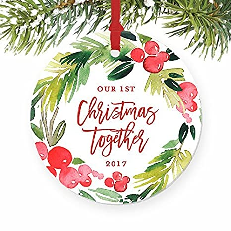 Our First Christmas Together Boyfriend Girlfriend Engaged Gifts for Couple  in Relationship Wedding Present Ornaments Wedding - Amazon.com: Our First Christmas Together Boyfriend Girlfriend