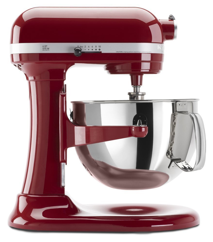 Kitchenaid Professional 600 Stand Mixer 6 quart, Empire Red (Renewed) by KitchenAid