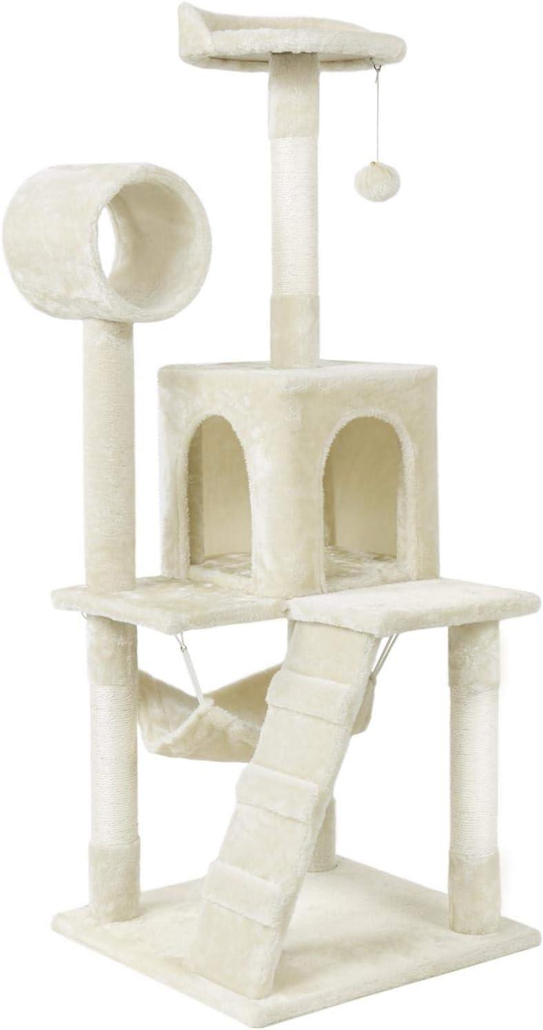 YAHEETECH Cat Tree Tower Kitten Bed Furniture