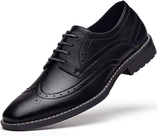 Men's Black Dress Shoes Formal Lace Up
