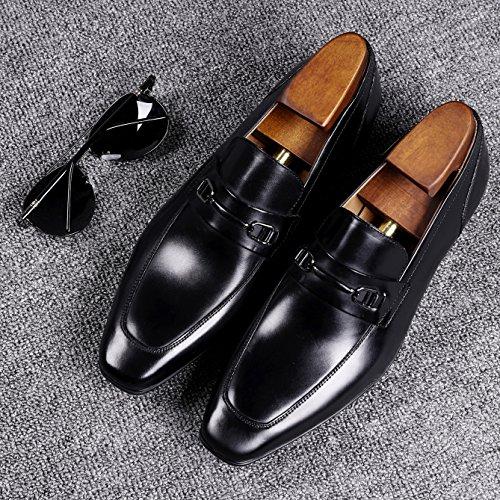 Mocassini Scarpe Desai Comode Stile Uomo Pelle Uomo Casual Liscia Scarpe Loafers Nero di Eleganti 6xFwB4qx