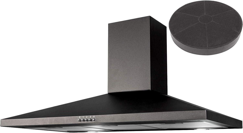 SIA CHL100BL - Campana extractora y filtro de carbono (100 cm), color negro: Amazon.es: Grandes electrodomésticos