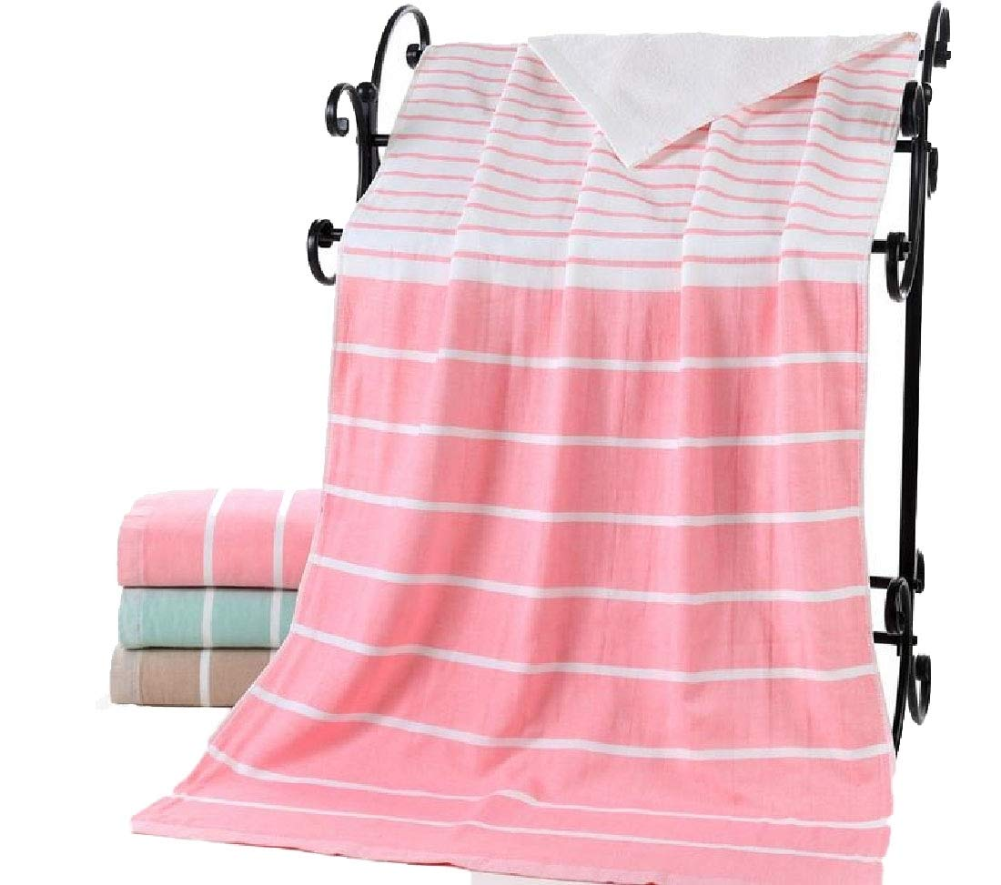 YUNY Easy Care Cotton Dressy Multipurpose Fast Drying Sheer Maximum Machine Wash Chic Luxurious Fit-and-Flare Trendy Bath Beach Spa and Fitness Towel Pink 70140
