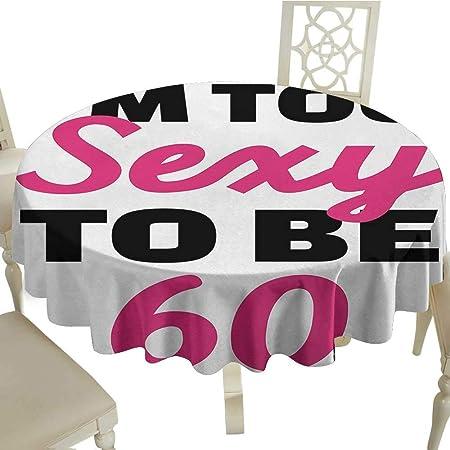 Mantel estampado para 60 cumpleaños con diseño de dibujos ...