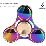AdiChai Rainbow Fidget Spinner with Good Spin Time Comes With a Light Metal Case