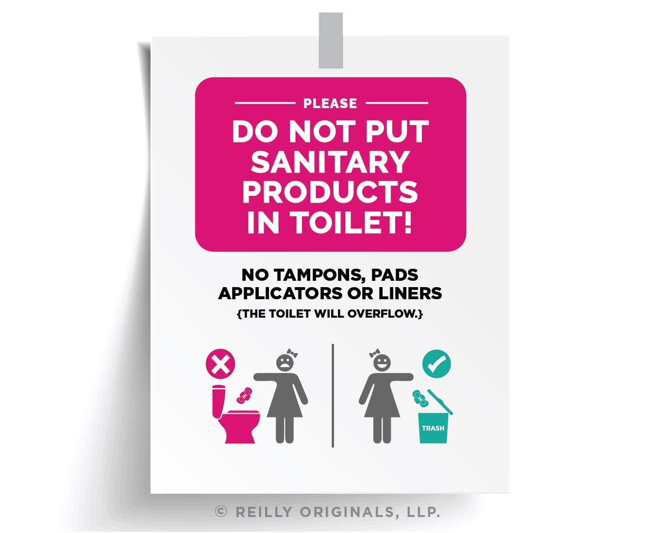 photo relating to Free Printable Do Not Flush Signs identified as : Do Not Flush Sanitary Woman Solutions