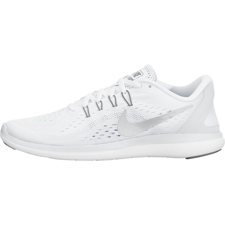 NIKE Women's Flex 2017 RN Running Shoe (7.5 B(M) US, White/Metallic/Silver)