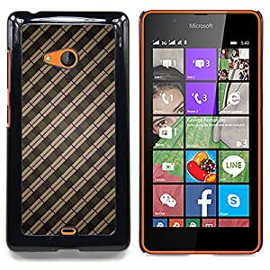 Stripes Wallpaper Grey Brown Red Random Caja protectora de pl??stico duro Dise?¡Àado King Case For Microsoft Nokia Lumia 540 N540