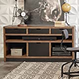 Motus Two Tone Storage Credenza - 60''W Planked Earth Dimensions: 60''W x 19''D x 30''H Weight: 179 lbs