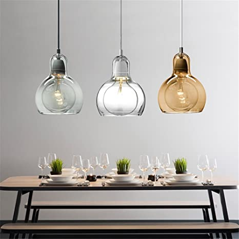 Joeyhome Globo moderno pendente in vetro luce per cucina grande ...