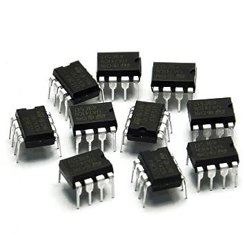 Gikfun UA741CN DIP-8 St amplificadores operacionales Op Amp IC para Arduino (paquete de