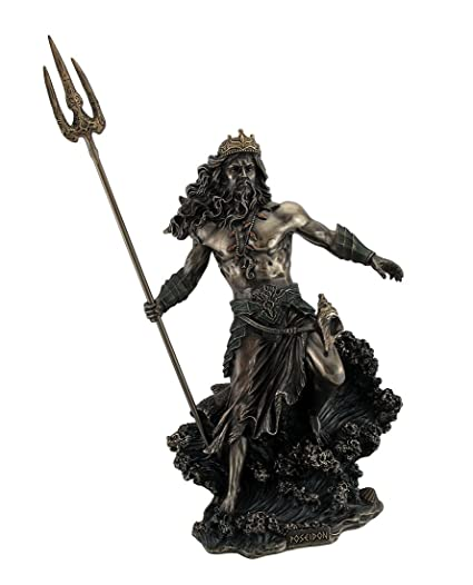 Amazon com: Resin Statues Poseidon Greek God Of The Sea Commanding