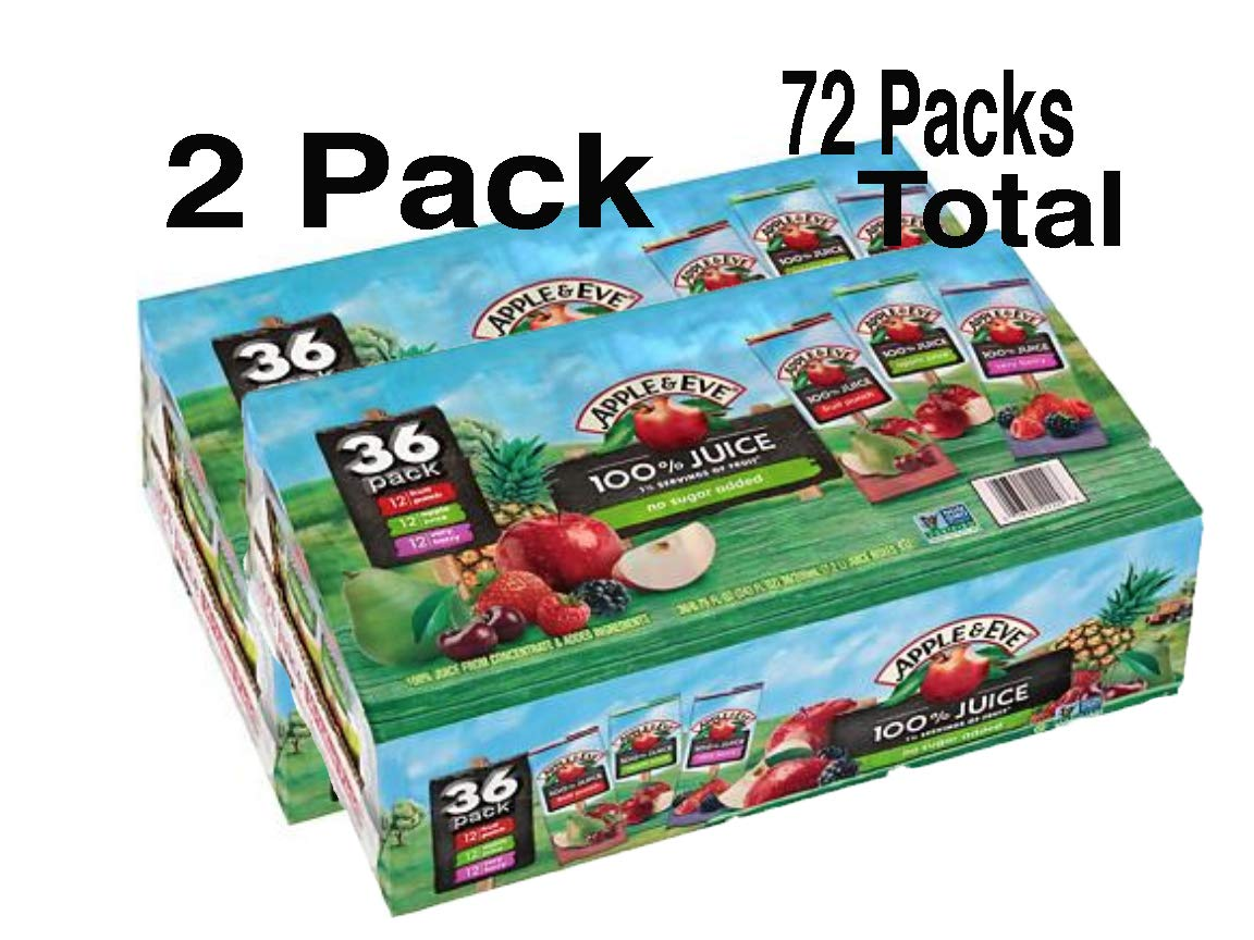 Apple & Eve 100% Juice Variety Pack 2 Boxes 72 Packs (6.75oz / 72pk)