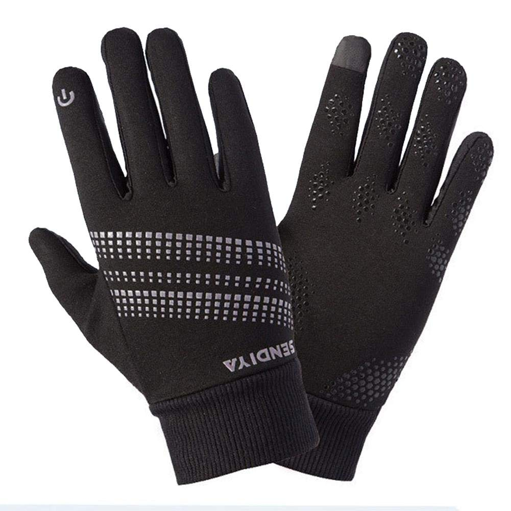 Pictury Reflective Warm Gloves, Windproof Waterproof Cycling Running Gloves