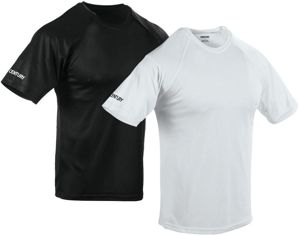 世紀Martial Arts Men 's Base Layer Uniform Tシャツ ブラック Adult Medium